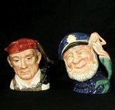 Royal Doulton Toby Mugs~ $25 Each or Both For $40 in Batavia, Illinois