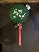 Brand new outdoor Xmas ornament sign in Naperville, Illinois