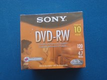 NEW SONY 10 PACK OF DVD -RW DISCS in Yorkville, Illinois