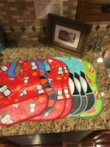 8 waterproof bibs with pockets to catch crumbs in Naperville, Illinois