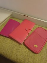 Set of 3 Pink Folders (Business card holder/Receipts Folder/Travel Doc Wallet) in Lakenheath, UK