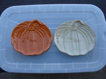 PAIR OF DECORATIVE PUMPKIN DISHAS in Bartlett, Illinois