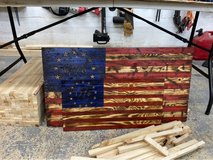 Wooden Flags in Camp Pendleton, California