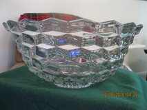"18"" crystal glass punch bowl in Hampton, Virginia"