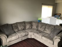 Sectional couch gray in Plainfield, Illinois