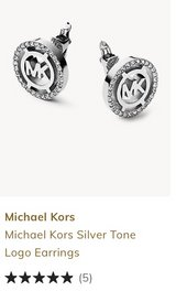 New Michael Kors Silver Logo Earrings, CLIP Studs in Fort Campbell, Kentucky