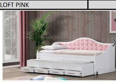 United Furniture - Day Bed Loft in Pink or Gray including Mattresses and Delivery in Wiesbaden, GE