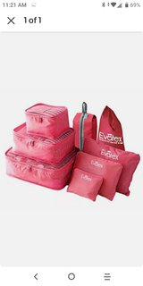 Evatex Packing Cubes - 8 Set Travel Packing Cubes-Pink in Fort Polk, Louisiana