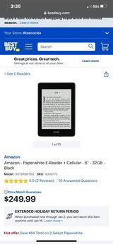***NIB Kindle Paperwhite 32gb Waterproof With Cellular Connectivity in Kingwood, Texas