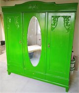 Antique Massvie and Solid Wood Schrank or Closet Entryway Closet in Ramstein, Germany