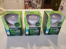 """Qty """"3"""" Brand New in Package GreenLite 8W LED = 65W Equivalent Dimmable Floodlight Bulbs. in Brookfield, Wisconsin"""