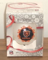NEW Chicago Bears NFL Glass Ornament Christmas in Joliet, Illinois