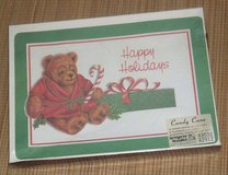 RARE Vintage Happy Holidays Candy Cane Box Set 24 Placemats 24 Dinner & 48 Beverage Napkins in Chicago, Illinois