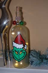 Lighted Decorative Grinch wine bottle in Elgin, Illinois