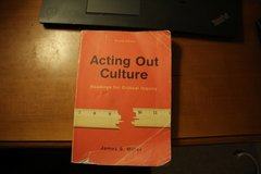 Acting Out Culture readings for critical inquiry College English Book in Bolingbrook, Illinois