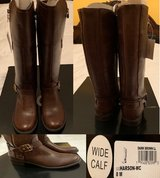 BRAND NEW HARSON BOOTS DARK BROWN WIDE CALF SIZE 8M FROM MACYS NEW IN BOX. COMPARE AT MACYS http... in Oswego, Illinois