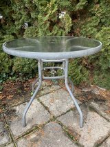 Glass top table (used outdoors) in Stuttgart, GE
