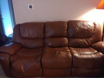 Leather Couch seam split on middle cushion in Yorkville, Illinois