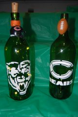 Large Bears decorative wine bottles in Chicago, Illinois