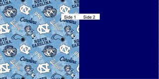 Face Masks 100% Cotton Reversible with Nose Wire - UNC Tarheels in Camp Lejeune, North Carolina