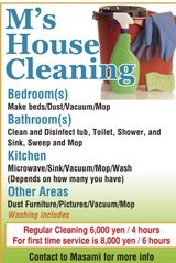 Ms house cleaning in Okinawa, Japan