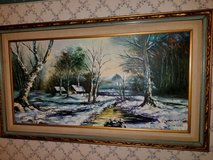"""56 X 32 inch signed oil painting """" $60.00 in Camp Lejeune, North Carolina"""