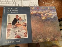 Art Books Norman Rockwell and Monet Lof of 2 in Batavia, Illinois