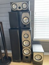 Infinity Alpha 20 Bookshelf speakers and Center Channel in Naperville, Illinois