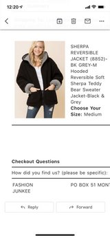Sherpa jacket in Plainfield, Illinois