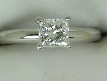 IGL Certified .80ct Princess Solatire Engagement Ring in Fort Bliss, Texas