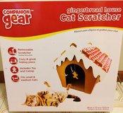 New Companion Gear Gingerbread House Cat Scratcher, for small & medium cats in Plainfield, Illinois