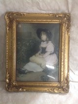 Vintage Gold Ornate Picture of Girl in St. Charles, Illinois