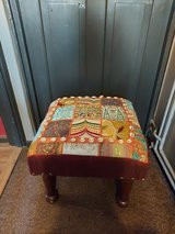 bohemian foot stool. a couple of shells need tightening up in Lakenheath, UK