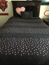 Betsey Johnson Twin/Twin XL Reversible Bedding set of 2 in Naperville, Illinois