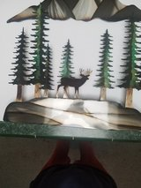 Deer  with mountain Scene Metal Art in Tacoma, Washington