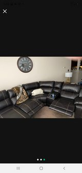 leather sectional in Batavia, Illinois