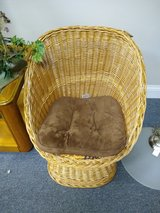 Small Wicker Chair in Oswego, Illinois