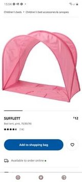 pink bed tent as pictured in Lakenheath, UK