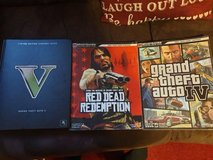 3 xbox books GTA 4/5 AND RED DEAD REDEMPTION in Lakenheath, UK