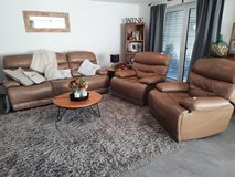 Leather Couch and matching Recliners (2) in Stuttgart, GE