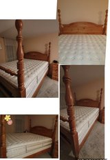 Basset King size Bed frame with mattress and box spring in Stuttgart, GE