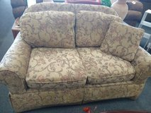 Taupe Muted Print Loveseat in Naperville, Illinois