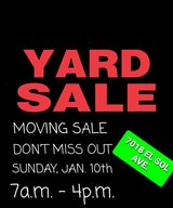 MOVING SALE SUNDAY, JAN. 10th 7a.m - 4p.m in 29 Palms, California