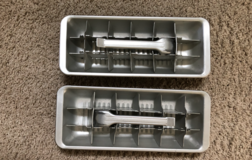 two vintage aluminum ice cube trays in Yorkville, Illinois