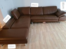 Willi Shilling leather couch in Stuttgart, GE
