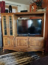 PRICE REDUCED!!SOLID OAK ENTERTAINMENT CENTER in Alamogordo, New Mexico