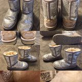 Ugg silver sequin boots (Youth/Girls size 1) in Elgin, Illinois