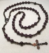 Catholic Rosary Brown Howlite Antique Bronze Medal Crucifix Neclace $25.00 in Kingwood, Texas