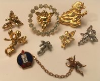 Angels Lot 8 Pins Gold, Silver, Crystals Vintage in Kingwood, Texas