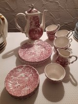 """Coffee-Set """"The Hunter by Myott"""" red/white 21 pieces in Spangdahlem, Germany"""